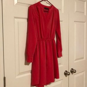 Pink Long Sleeve Dress (with pockets!!!)